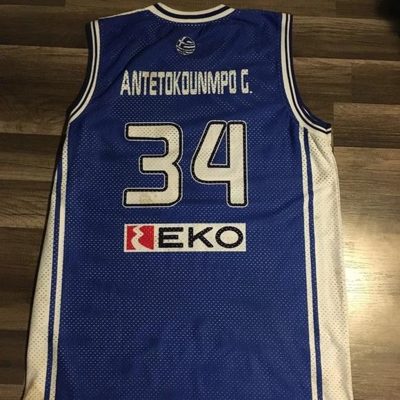 7d6147d7dd9 Giannis Antetokounmpo Greece basketball Jersey. M 5b675d4c04ef502153e8986b